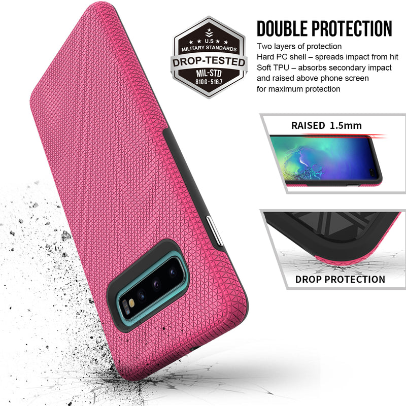 Galaxy S10 Plus Triangle PINK Case WITH Package