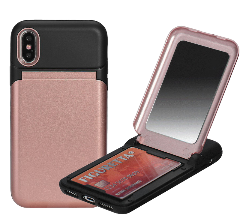 iPhone 8/7 Plus C.C Hybrid Mirror Case Rose Gold