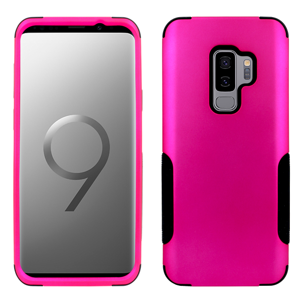 Galaxy S9 Plus Aries Case Hot Pink Black