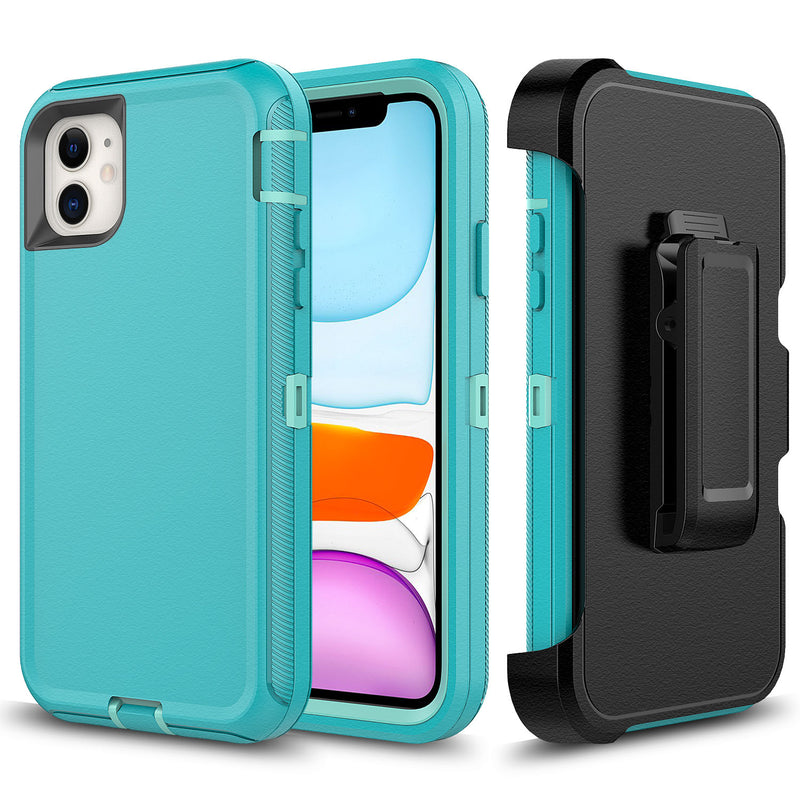 Mint Green iPhone 11 Heavy Duty Case