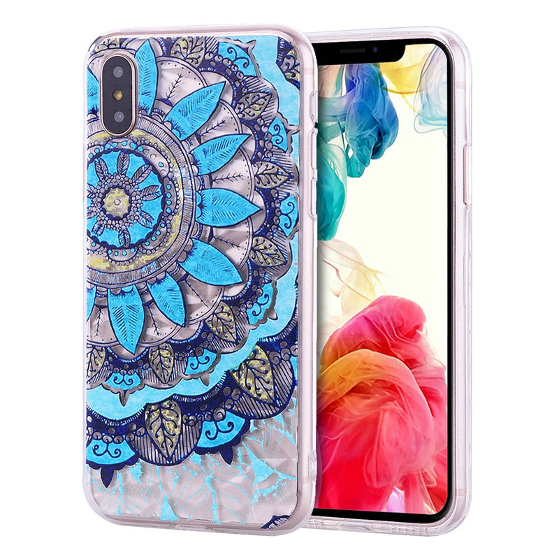 iPhone XR Design TPU Mandala Blue