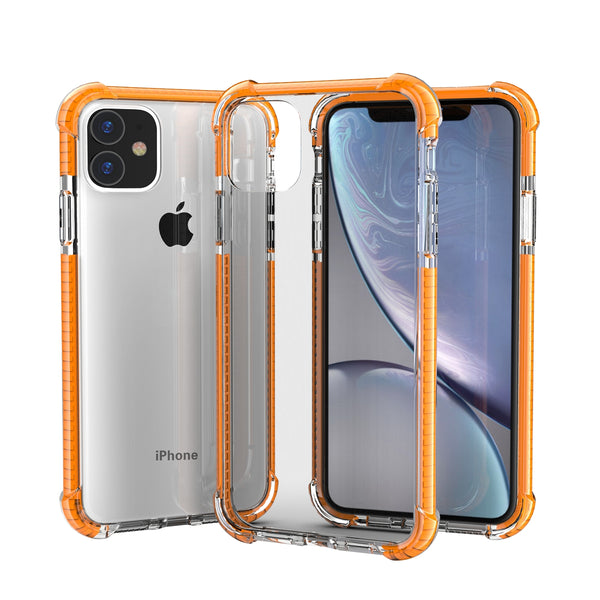 Orange iPhone 11 PRO TPU Bumper Ultra Clear Back TPU Shockproof