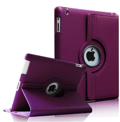 iPad Mini 4/5 PU Leather Folio Folding 360 Case Purple