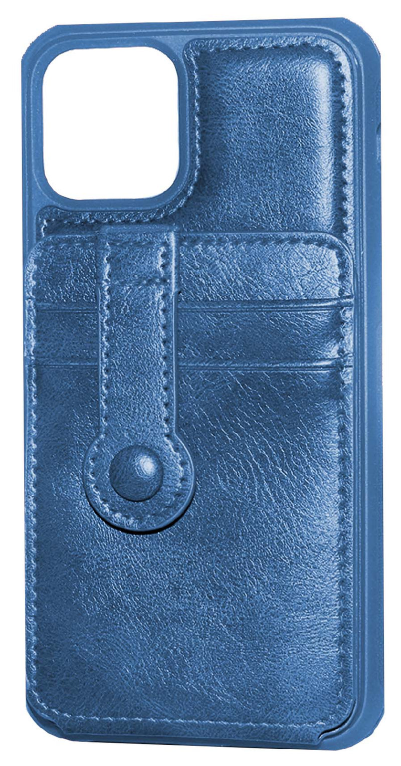 Navy Blue iPhone 11 Pro MAX Back Leather Wallet Case