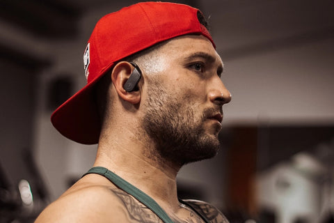 Athlete wearing ProSport wireless headphones