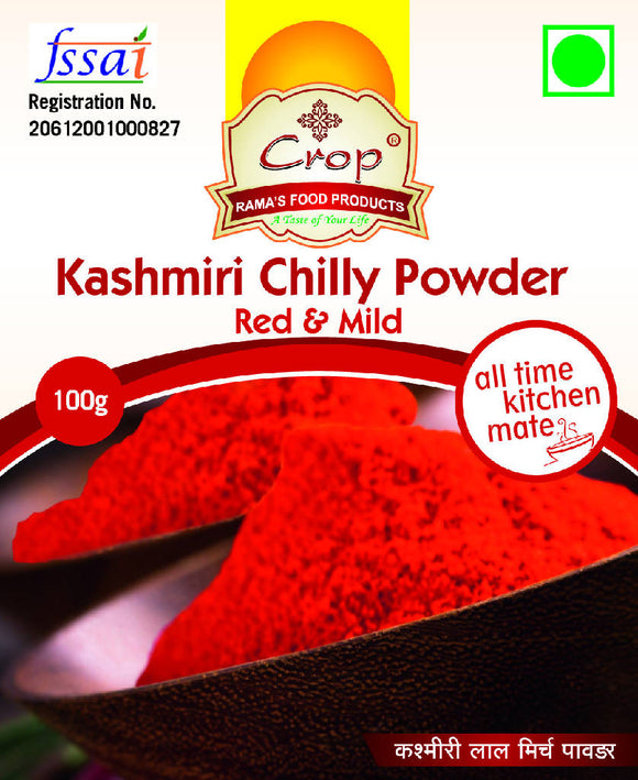 Crop Kashmiri Chilli Powder - Red & Mild