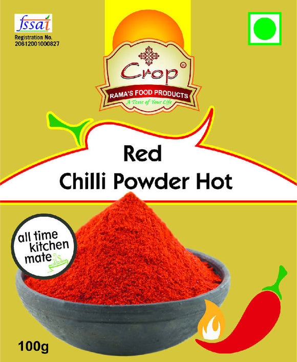 Crop Red Chilli Powder- Hot