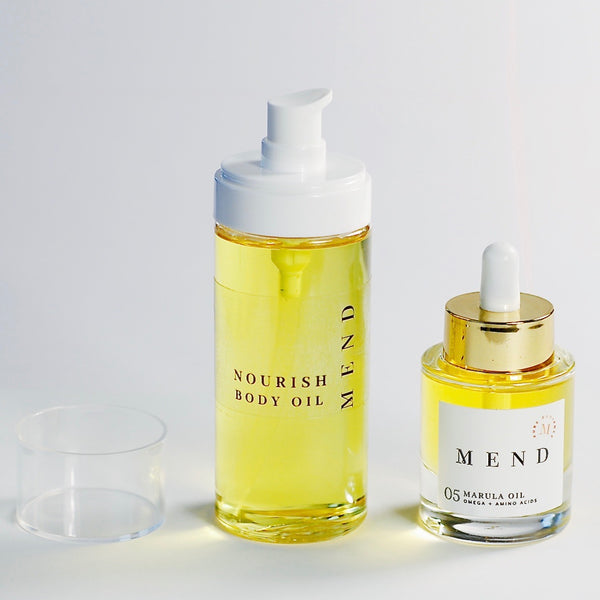 Mend Skin Care Nourish Duo- Facial oil and Body Oil
