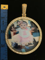 Large 3in Custom Picture Pendant/Memory Pendant W/Tennis Necklace
