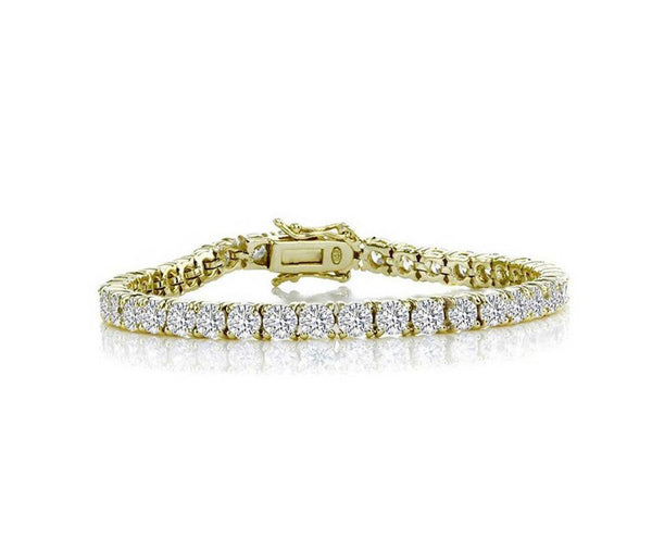 4mm Round Cut Tennis Bracelet