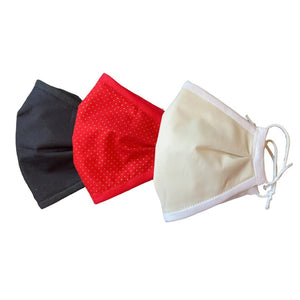3-Pack Face Mask. 4 Ply with non-woven filter. UK Handmade. - Bamboezor London