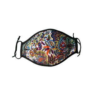 4 Ply Filtered Face Mask with Print Designs. Comfortable, Reversible, UK Handmade. - Bamboezor London