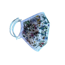 Load image into Gallery viewer, Organic Bamboo Face Mask with Wild Flowers Liberty Print - Bamboezor London
