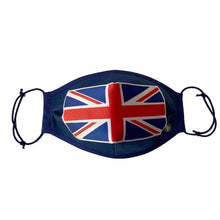 Load image into Gallery viewer, Reusable 4 Ply Distressed British Union Jack Flag Face Mask. UK Handmade - Bamboezor London