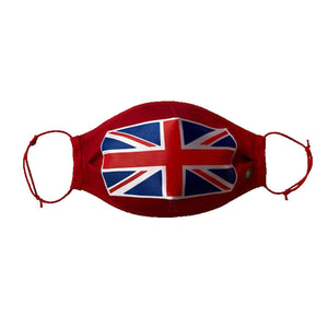 Reusable 4 Ply Distressed British Union Jack Flag Face Mask. UK Handmade - Bamboezor London