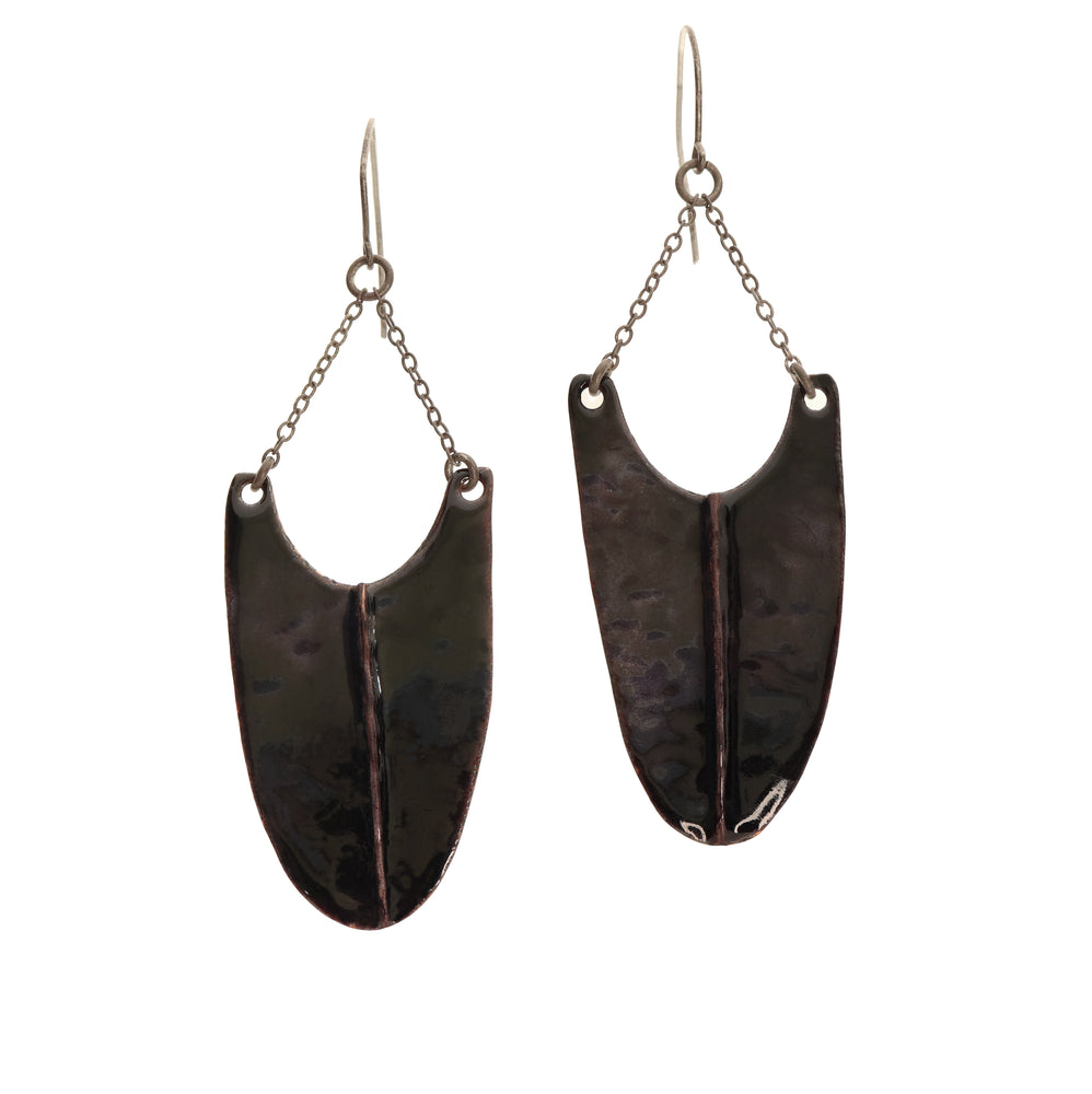 ENAMEL DROP EARRINGS
