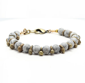 Load image into Gallery viewer, Map Jasper Yoga Bracelet