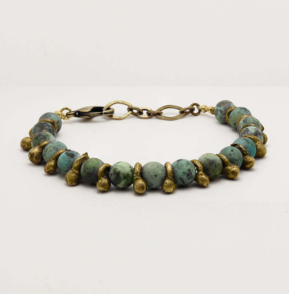 Load image into Gallery viewer, Turquoise Yoga Bracelet
