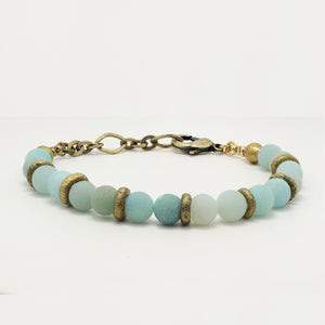 Load image into Gallery viewer, Amazonite Yoga Bracelet.