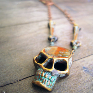 Load image into Gallery viewer, Skull & Bones Necklace