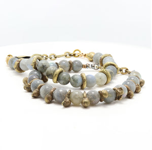 Load image into Gallery viewer, Labradorite Yoga Bracelet