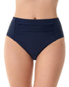 Penbrooke Center Shirred Brief Navy - Key West Swimwear