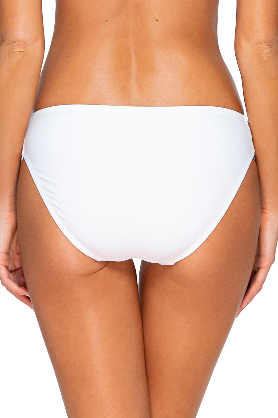 Sunsets White Femme Fatale Hipster Bottom - Key West Swimwear
