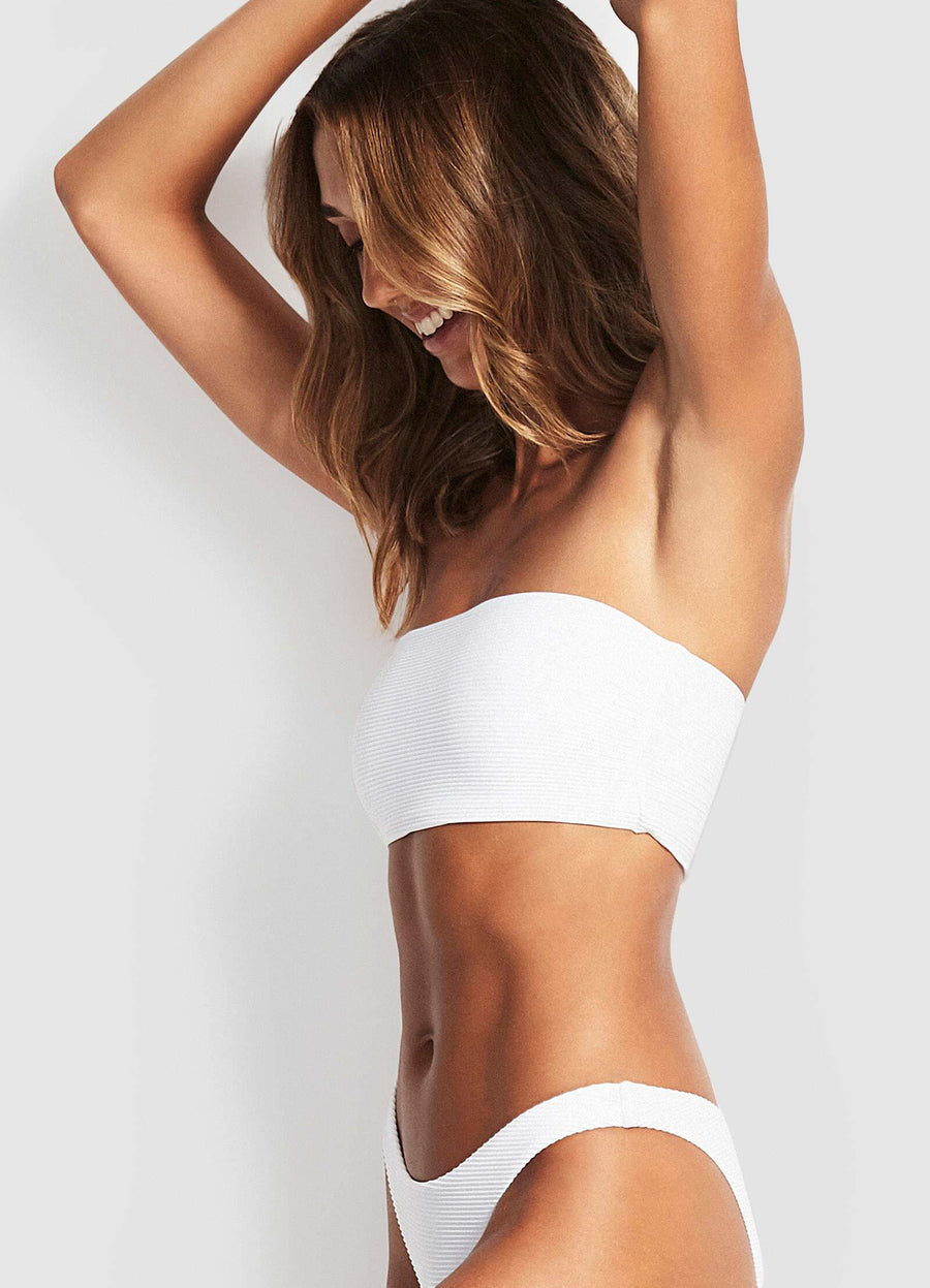 Seafolly Essentials White Tube Top - Key West Swimwear