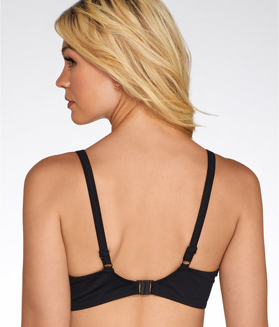 Fantasie UW Wrap Front Top Ottawa Black - Key West Swimwear
