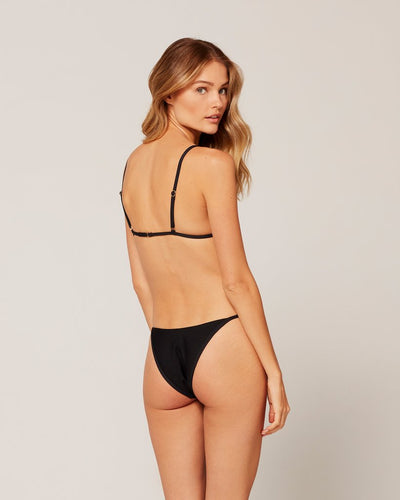 L*Space Ribbed Jay Bottom Black - Key West Swimwear