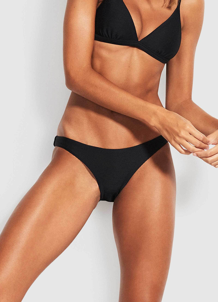 Seafolly Essentials Black Hipster Bottom - Key West Swimwear