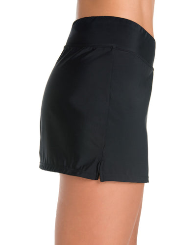Penbrooke Yoga Waist Short Black - Key West Swimwear