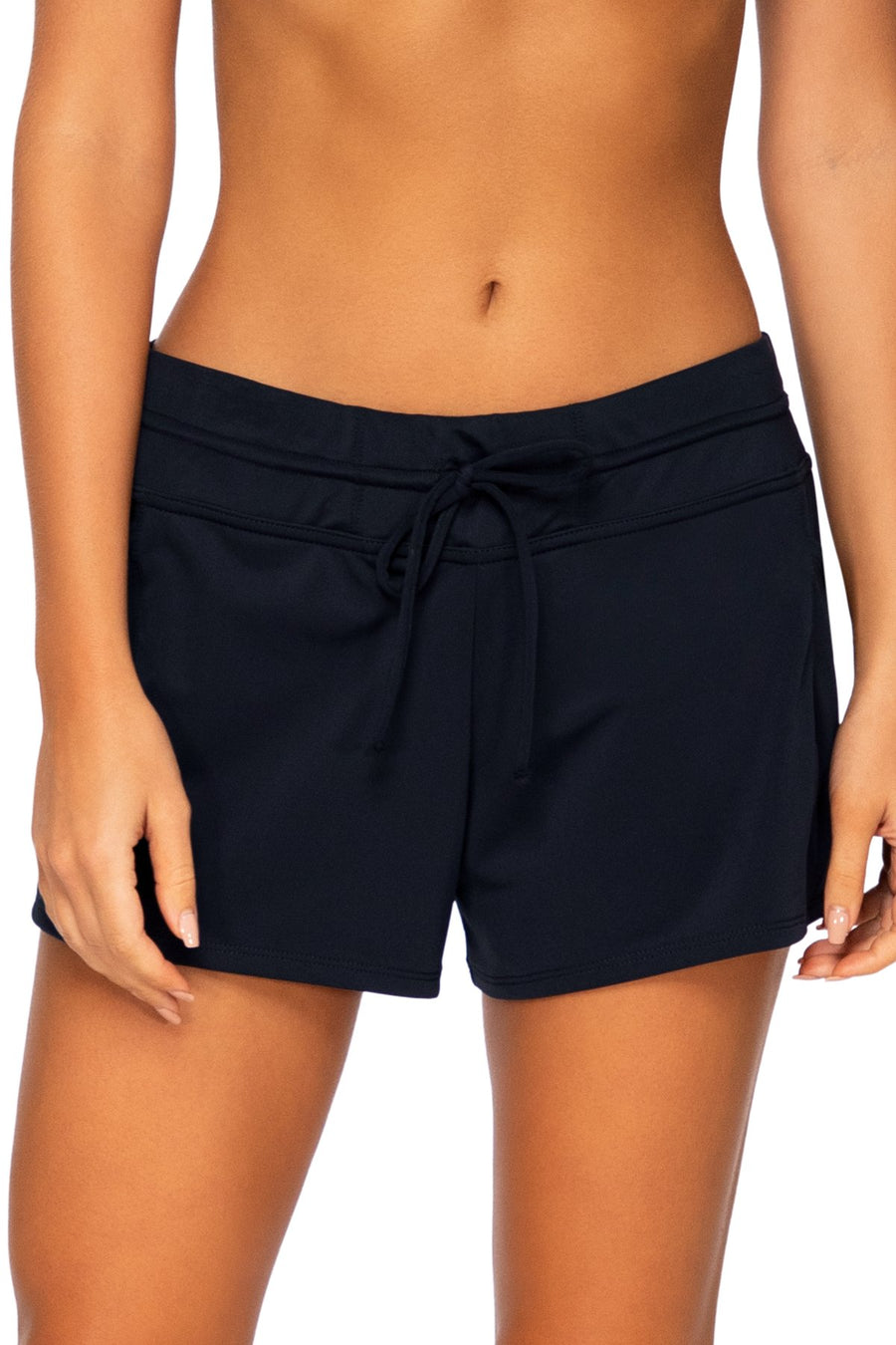 Sunsets Escape Black Laguna Swim Short Bottom - Key West Swimwear