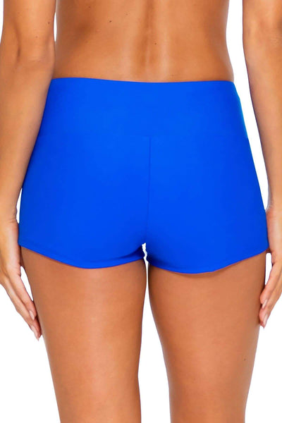 Sunsets Imperial Blue Seascape Swim Short Bottom - Key West Swimwear
