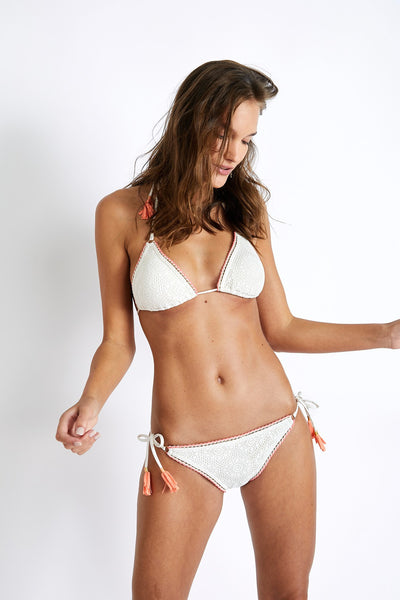Banana Moon Couture Crochet Off WhiteTie Side Bottom - Key West Swimwear