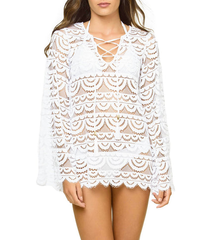 PilyQ Noah Tunic Water Lily - Key West Swimwear
