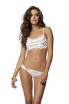 PQ Swim Lace Fanned Teeny Bottom Water Lily - Key West Swimwear