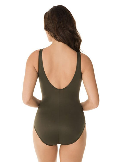 Miraclesuit Rock Solid Olivetta Twister One Piece - Key West Swimwear