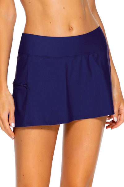 Sunsets Indigo Sporty Swim Skirt Bottom - Key West Swimwear