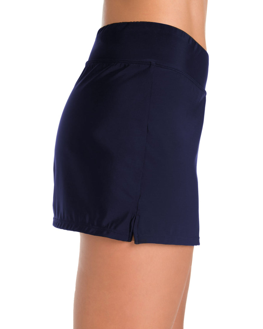 Penbrooke Yoga Waist Short Navy - Key West Swimwear