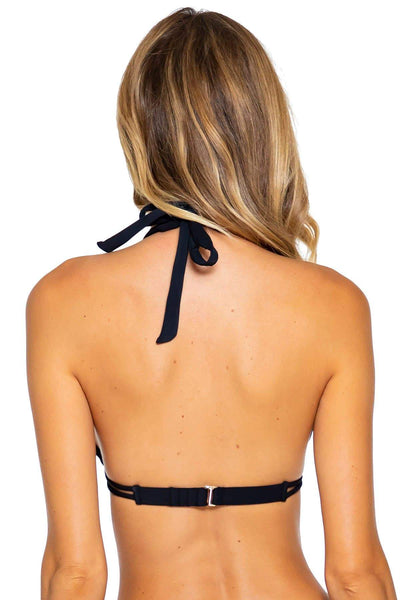 Sunsets Black Marilyn Halter Top - Key West Swimwear