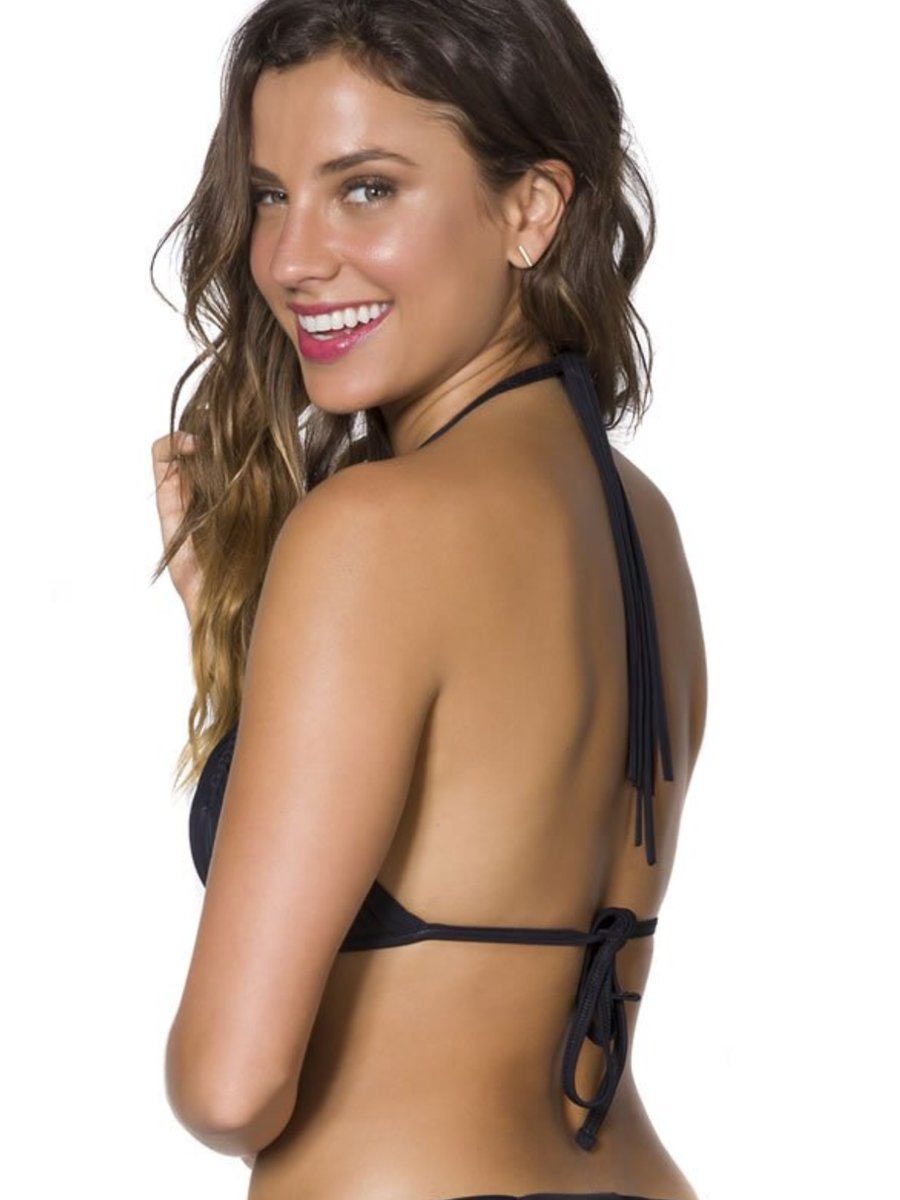 Guria Multi-Strings Triangle Top Black - Key West Swimwear