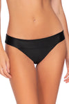 Swim Systems Black  Bliss Banded Bottom - Key West Swimwear