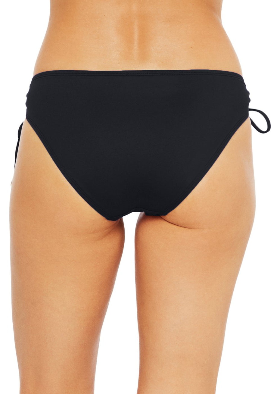 La Blanca Black Adjustable Loop Hipster Bottom - Key West Swimwear