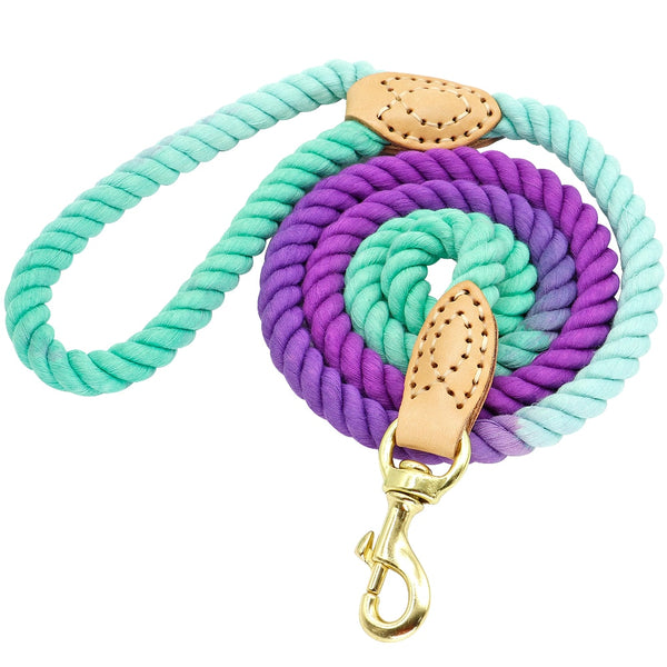 Handmade Cotton Dog Leash - Colors