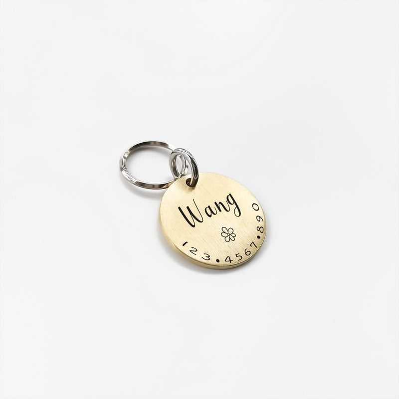 Round Engraved Dog Tag