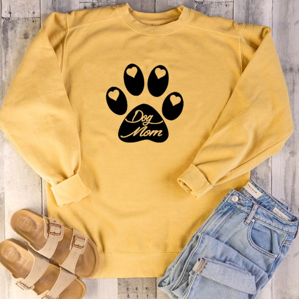 Dog Paw Cotton Women Sweatshirt