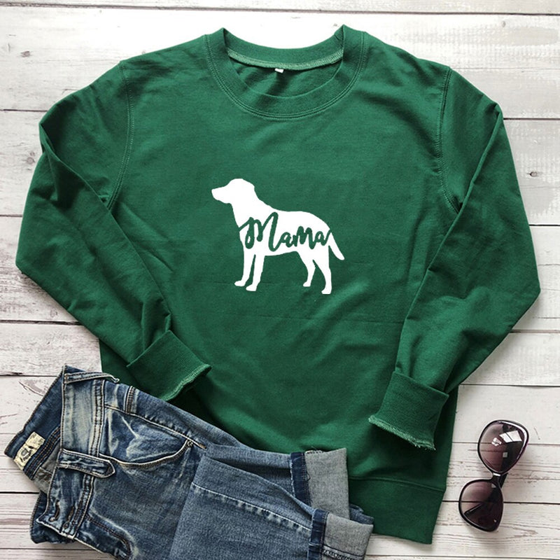 Dog Mama Crew Neck Women Sweatshirt