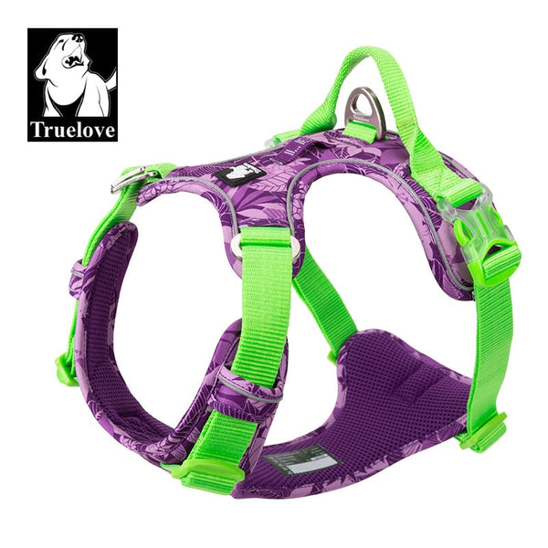 Nylon Reflective Hawaiian Edition Harness Soft Dog Harness