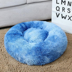 Classic Blue Soft Dog Sleeping Bed